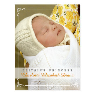 Princesse Charlotte Elizabeth Diana - William Kate Carte Postale