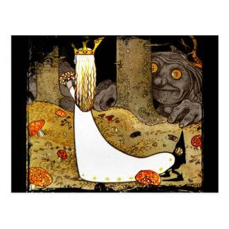 Princesse dans le blanc avec des fleurs cartes postales