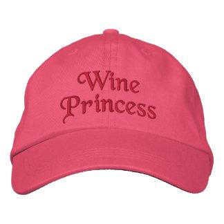 Princesse de vin casquette brodée