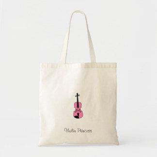 Princesse de violon sac en toile budget