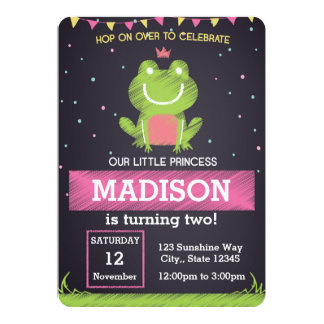 Princesse Frog Birthday Invitation