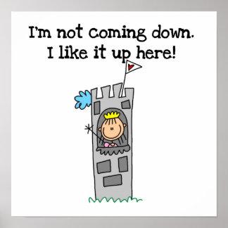 Princesse humoristique dans la tour posters