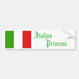 Princesse italienne, adhésif pour pare-chocs autocollant de voiture