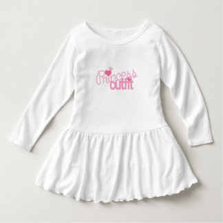 Princesse Outfit Toddler Ruffle Dress Robe Manches Longues