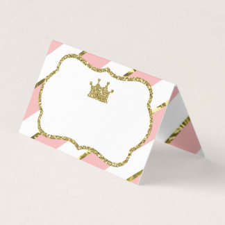 Princesse Place Cards, cartes de nourriture, or de
