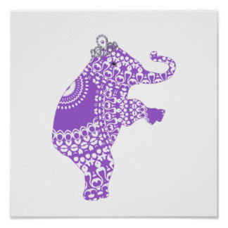 Princesse pourpre mignonne Elephant Baby Nursery