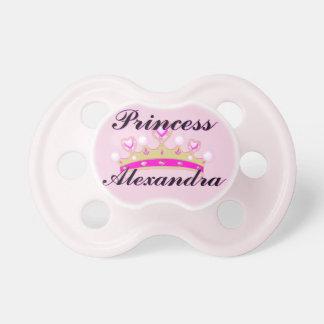 Princesse rose Personalized Pacifier Tétine Pour Bébé