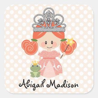 Princesse rousse faite sur commande Frog Sticker