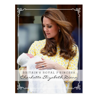 Princesse royale - William et Kate Carte Postale