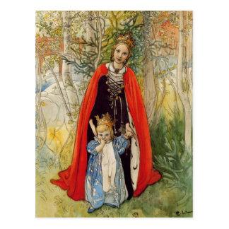 Princesse Spring Mother et fille Cartes Postales