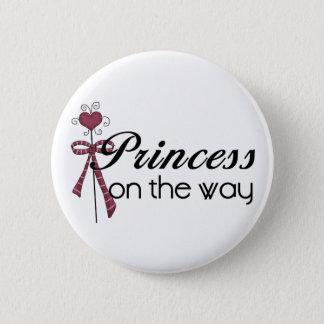 Princesse sur le chemin - customisé badge rond 5 cm