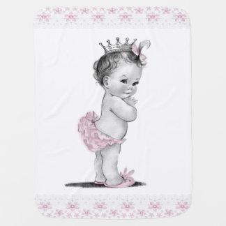 Princesse vintage couvertures pour bébé