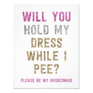 Prise de scintillement ma robe tandis que je fais carton d'invitation 10,79 cm x 13,97 cm
