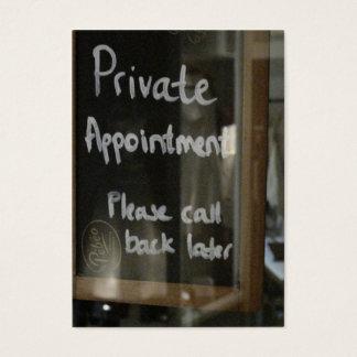 privé benoeming visitekaartjes