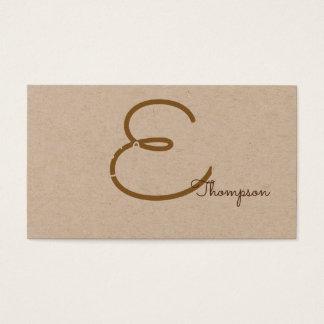 pro contact-carte/monogramme original sur papier cartes de visite