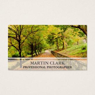 Pro fotograaf autumnm bomen visitekaartjes