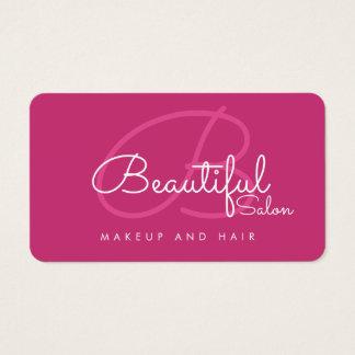 pro monogramme rose de salon de cartes de visite