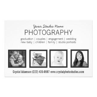 Pro photographe de 4 photos ou toute profession prospectus 14 cm x 21,6 cm