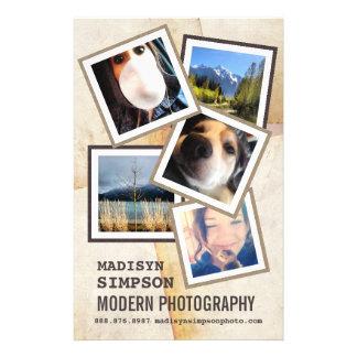 Pro publicité moderne de photographe prospectus 14 cm x 21,6 cm
