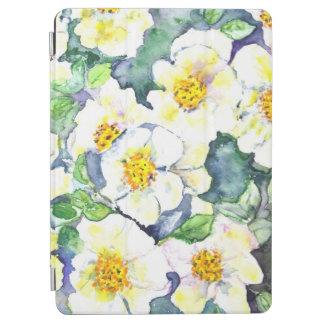 Pro roses de fleurs d'aquarelle de la couverture protection iPad pro
