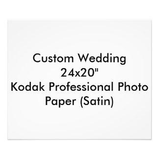 Pro satin l'épousant fait sur commande de papier  tirage photo