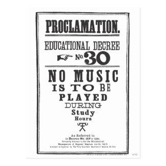 Proclamatie 30 briefkaart