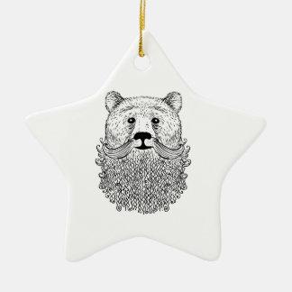 Produit barbu d'ours ornement étoile en céramique