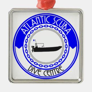 Produits atlantiques de scaphandre ornement carré argenté