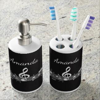 Produits blancs de salle de bains de conception de distributeurs de savon