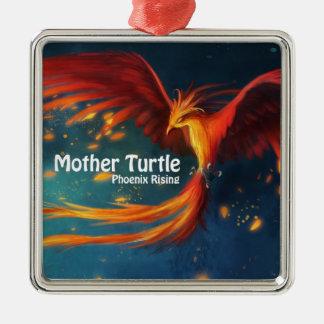 Produits de tortue de mère ornement carré argenté
