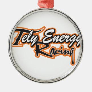 Produits d'énergie de Tely Ornement Rond Argenté