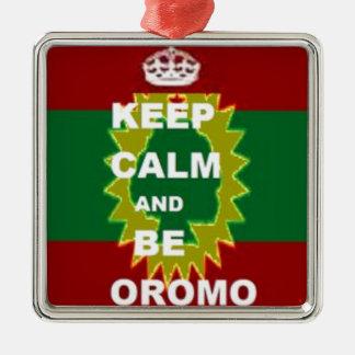 Produits d'Oromo Ornement Carré Argenté