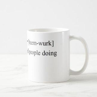 Produits drôles de travail d'équipe mug