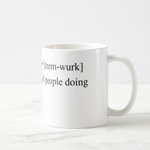 Produits drôles de travail d'équipe tasses à café