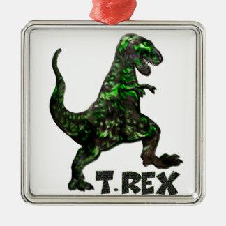 Produits multiples de dinosaure de T Rex choisis Ornement Carré Argenté