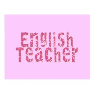 Professeur d'Anglais affligé par rose des textes Carte Postale
