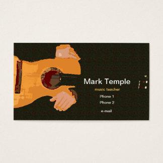Professeur de musique cartes de visite