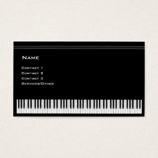 Professeur de piano cartes de visite