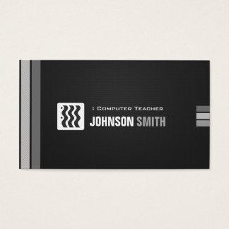 Professeur d'ordinateur - blanc noir urbain cartes de visite