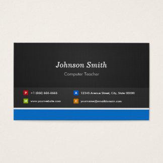 Professeur d'ordinateur - personnalisable cartes de visite