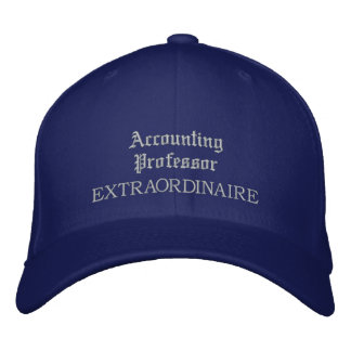 Professeur Embroidered Hat de comptabilité Chapeau Brodé