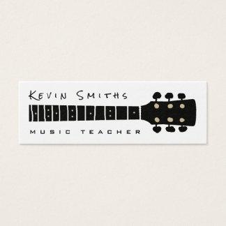 professeur noir/de blanc musique fraîche et mini carte de visite