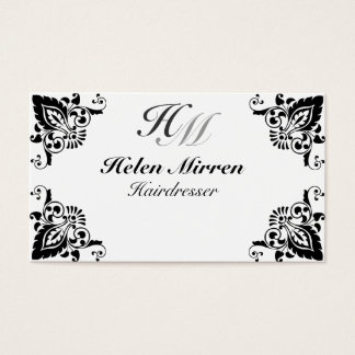 Professionele Elegante Zwarte Bloemen van het Visitekaartjes