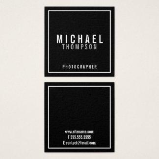 Professionele Minimalistische Zwart-wit Vierkante Visitekaartjes