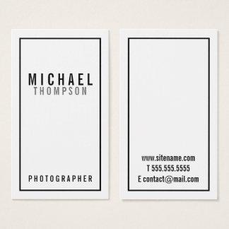 Professionele Minimalistische Zwart-wit Visitekaartjes