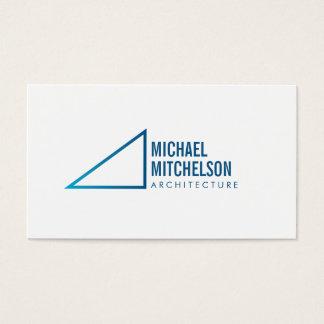 Professionnel à angle droit architectural cartes de visite