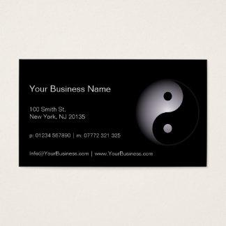 Professionnel blanc noir de Yin Yang - carte de Carte De Visite Standard
