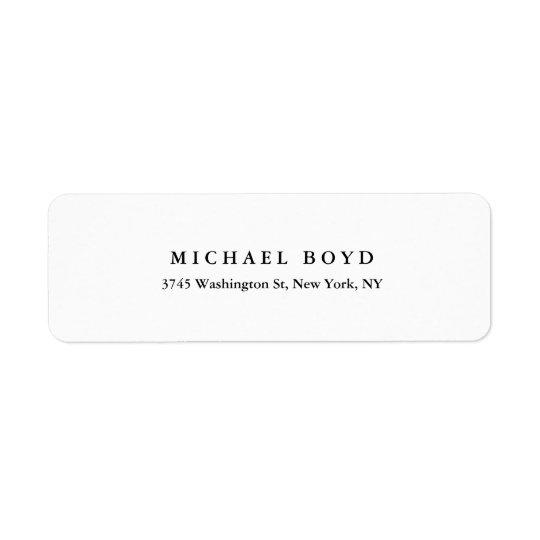 Professionnel classique noir et blanc créatif étiquettes d'adresse retour