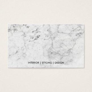 Professionnel de marbre blanc moderne en métal cartes de visite