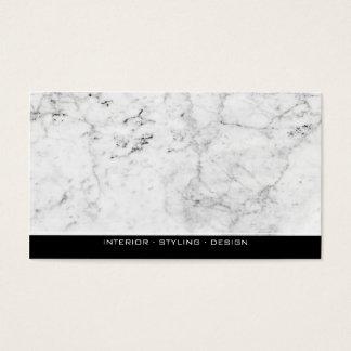 Professionnel de marbre moderne noir et blanc cartes de visite
